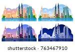 manama. bahrain. horizontal... | Shutterstock .eps vector #763467910