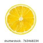 lemon slice  saved with... | Shutterstock . vector #763468234