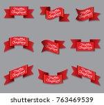 illustration of red celebration ... | Shutterstock .eps vector #763469539