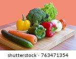 vegetables. fresh vegetables.... | Shutterstock . vector #763471354