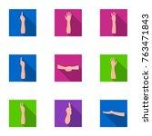 significance of gestures flat... | Shutterstock .eps vector #763471843