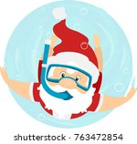 illustration of a summer santa... | Shutterstock .eps vector #763472854