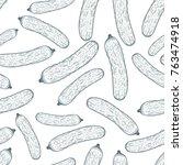 cucumber seamless pattern... | Shutterstock .eps vector #763474918