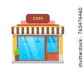 concept of modern city cafe... | Shutterstock .eps vector #763476460