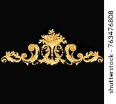 3d illustration of golden... | Shutterstock . vector #763476808