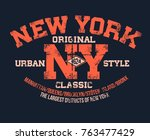 t shirt typography print new... | Shutterstock .eps vector #763477429