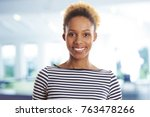 close up of a young afro... | Shutterstock . vector #763478266