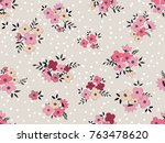 seamless floral pattern in... | Shutterstock .eps vector #763478620