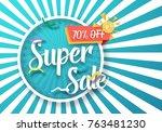 illustration of super sale... | Shutterstock . vector #763481230