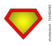 bright superhero color logo... | Shutterstock .eps vector #763482484