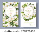 vector botanical vertical... | Shutterstock .eps vector #763491418