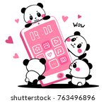 vector illustration of lovely... | Shutterstock .eps vector #763496896
