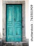 old typical vintage wooden door