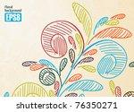 floral background  eps8 | Shutterstock .eps vector #76350271