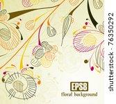 floral background  eps8   Shutterstock .eps vector #76350292