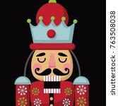 christmas nutcracker cartoon... | Shutterstock . vector #763508038