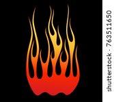 flame tattoo tribal vector... | Shutterstock .eps vector #763511650