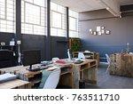 modern business office interior ... | Shutterstock . vector #763511710