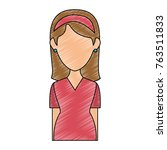 beautiful woman avatar character | Shutterstock .eps vector #763511833