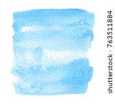 blue color aquarelle brush... | Shutterstock .eps vector #763511884