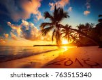 happy new year 2018 concept ...   Shutterstock . vector #763515340