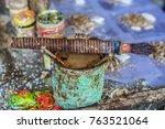 Small photo of Wet Acacia Catechu Powder at the Pan Shop.