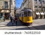 lisbon   portugal   february 23 ...   Shutterstock . vector #763522510