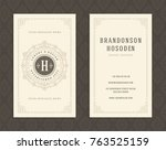luxury business card and...   Shutterstock .eps vector #763525159