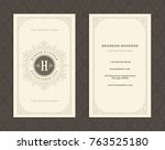 luxury business card and... | Shutterstock .eps vector #763525180