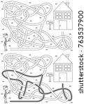 postman maze for kids with a