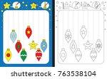 preschool worksheet for... | Shutterstock .eps vector #763538104