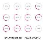 vector set illustration with... | Shutterstock .eps vector #763539340