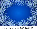 bath foam on gradient... | Shutterstock .eps vector #763540690