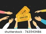 tickets concept vector... | Shutterstock .eps vector #763543486
