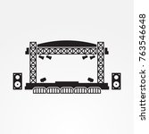 outdoor stage vector icon | Shutterstock .eps vector #763546648