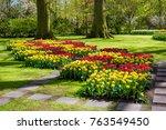 keukenhof park in netherlands | Shutterstock . vector #763549450