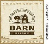 vintage barn label | Shutterstock . vector #763550590