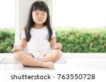 asian children cute or kid girl ... | Shutterstock . vector #763550728