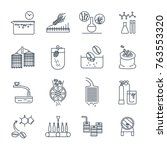 set of thin line icons drinks... | Shutterstock .eps vector #763553320