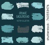 grunge brush stroke texture... | Shutterstock .eps vector #763553476
