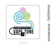 logo vape zone  emblem  ... | Shutterstock .eps vector #763559416