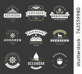 camping logos templates vector... | Shutterstock .eps vector #763559980