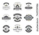 camping logos templates vector... | Shutterstock .eps vector #763559986