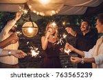 group of handsome men and...   Shutterstock . vector #763565239
