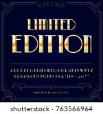 gold metallic font set. letters