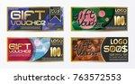 gift certificate voucher coupon ... | Shutterstock .eps vector #763572553