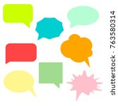 a collection of vector speech...   Shutterstock .eps vector #763580314
