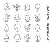 tree icons set | Shutterstock .eps vector #763581964