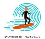 flat style vector illustration... | Shutterstock .eps vector #763584178