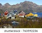 Greenlandic houses in Tasiilaq - East Greenland.